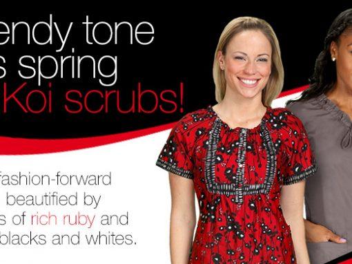 Koi Scrubs Promotion
