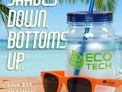 Shades Down, Bottoms Up!