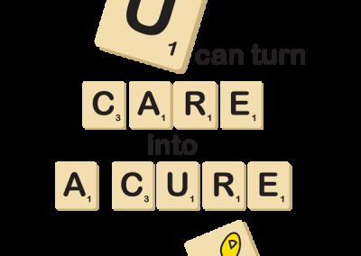 Scrabble-Inspired Childhood Cancer Awareness Design