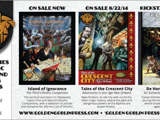 Golden Goblin Press Print Ad