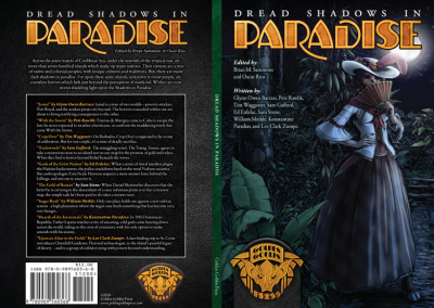 """Dread Shadows in Paradise"" Fiction Anthology Cover Design"
