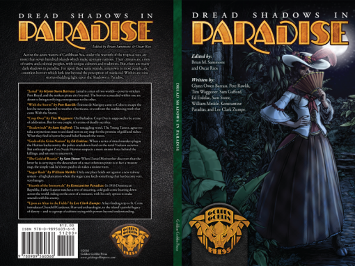 """""""Dread Shadows in Paradise"""" Fiction Anthology Cover Design"""