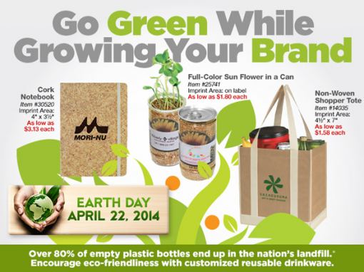 """Go Green"" Custom Promotional Items"