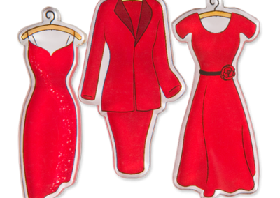 "Women's Heart Health ""Red Dress"" Acrylic Magnet Set"