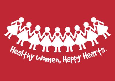 """Paper Dolls"" Women's Heart Health Awareness Design"